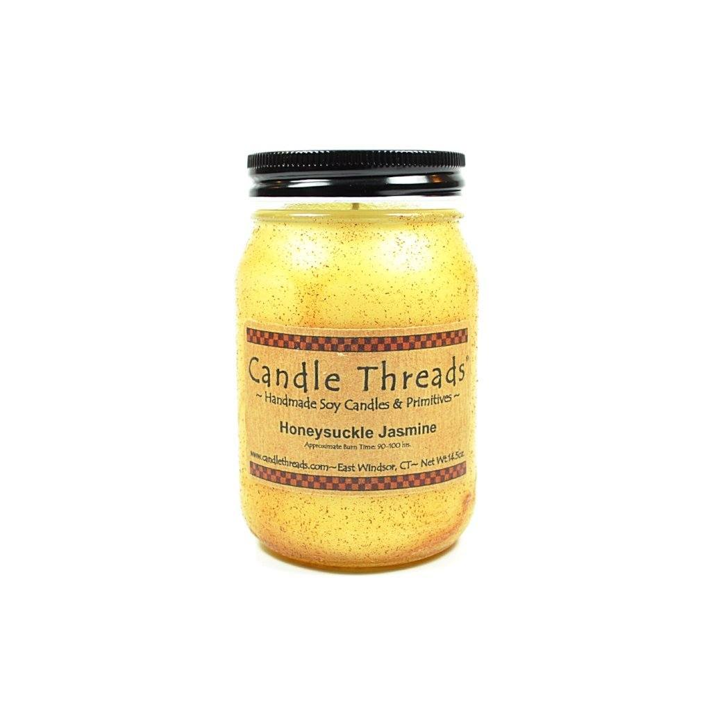 Candle Threads | 16oz Honeysuckle Jasmine Soy Candle