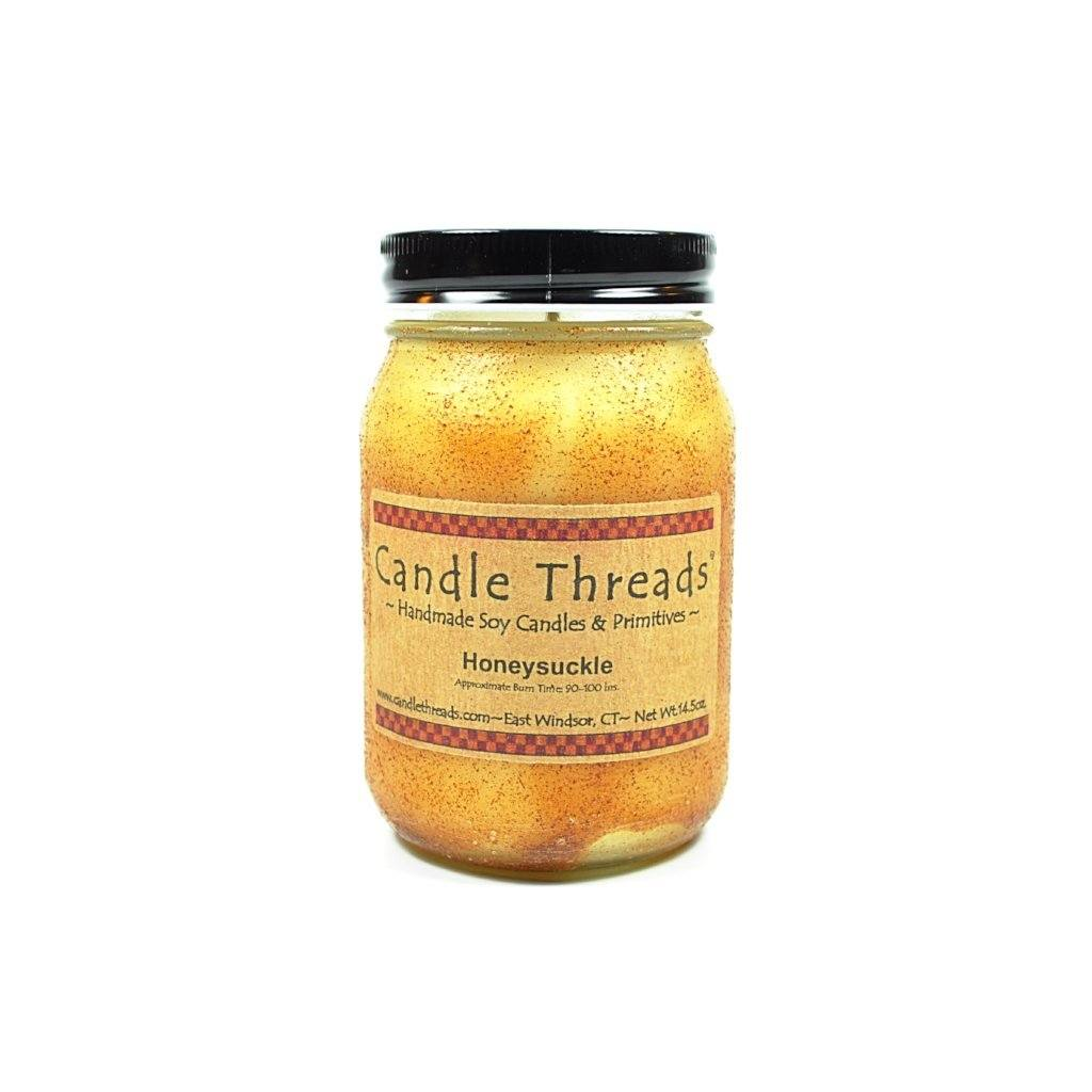 Candle Threads | 16oz Honeysuckle Soy Candle