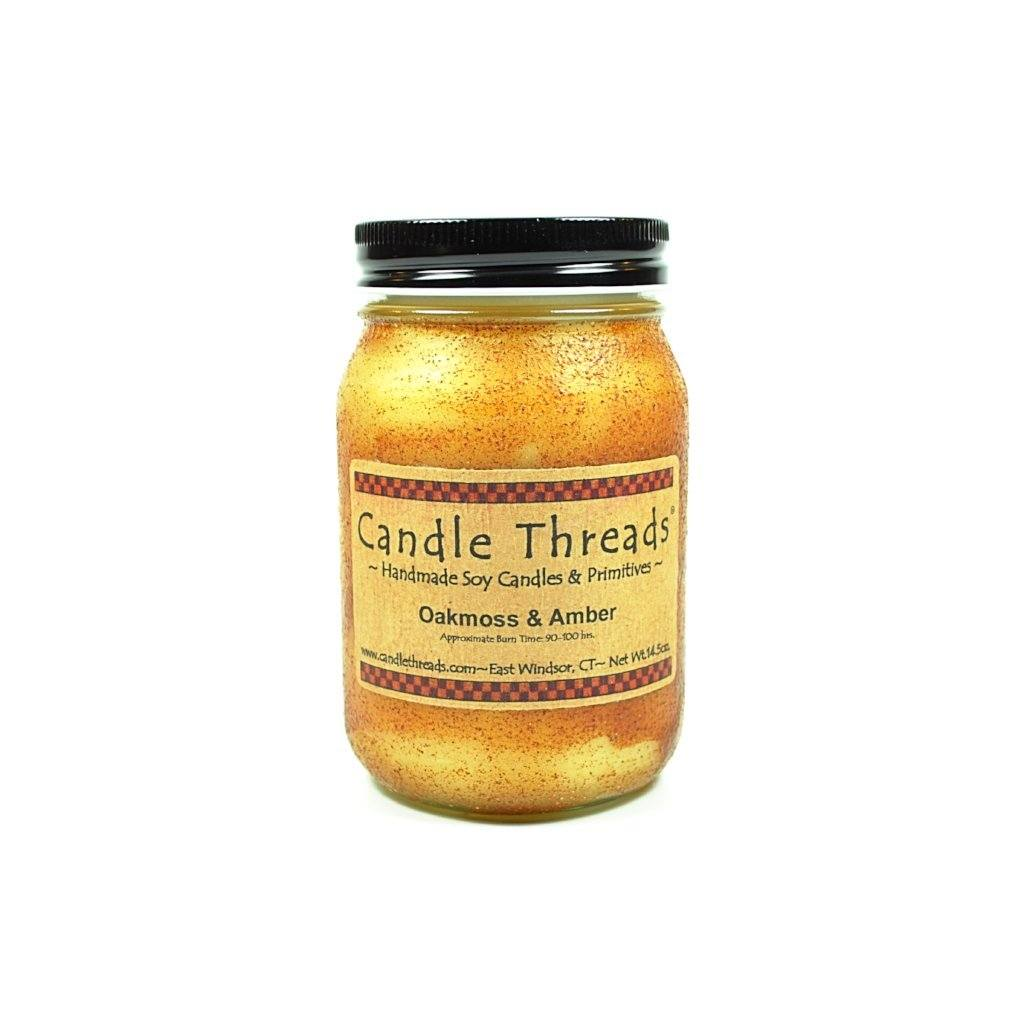 Candle Threads | 16oz Oakmoss & Amber Soy Candle