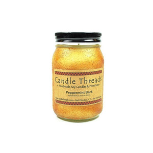 Candle Threads | 16oz Peppermint Bark Soy Candle