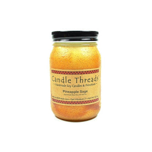 Candle Threads | 16oz Pineapple Sage Soy Candle