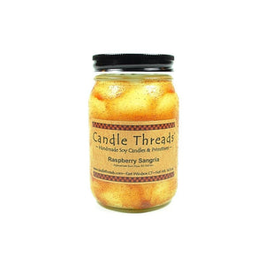 Candle Threads | 16oz Raspberry Sangria Soy Candle