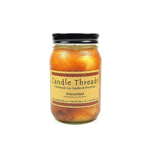 Candle Threads | 16oz Unscented Soy Candle