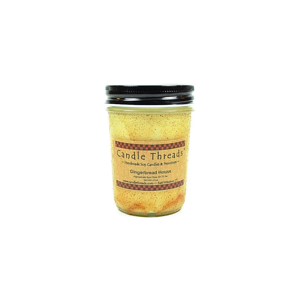 Candle Threads | 8oz Gingerbread House Soy Candle