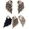 Angel Wings Rhinestone Inlaid Stud Earrings