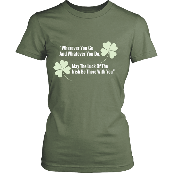 Womens T-Shirt | St Patrick's Day | Luck of the Irish
