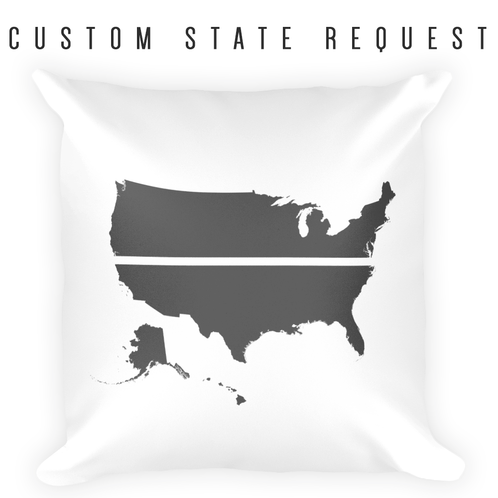 YOUR STATE BLUE SAVES / CUSTOM REQUEST / Square Pillow