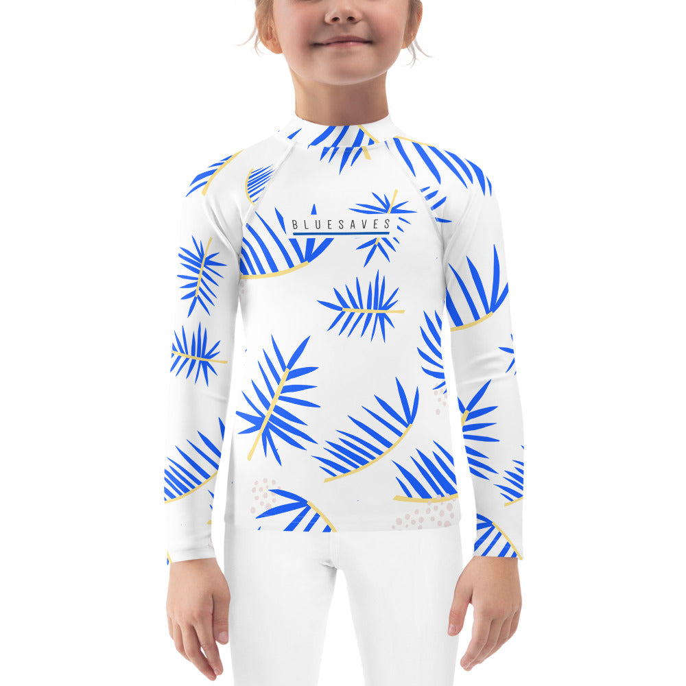 LEAF VIBES / *LIMITED EDITION* / BLUE SAVES/ Kids Rash Guard