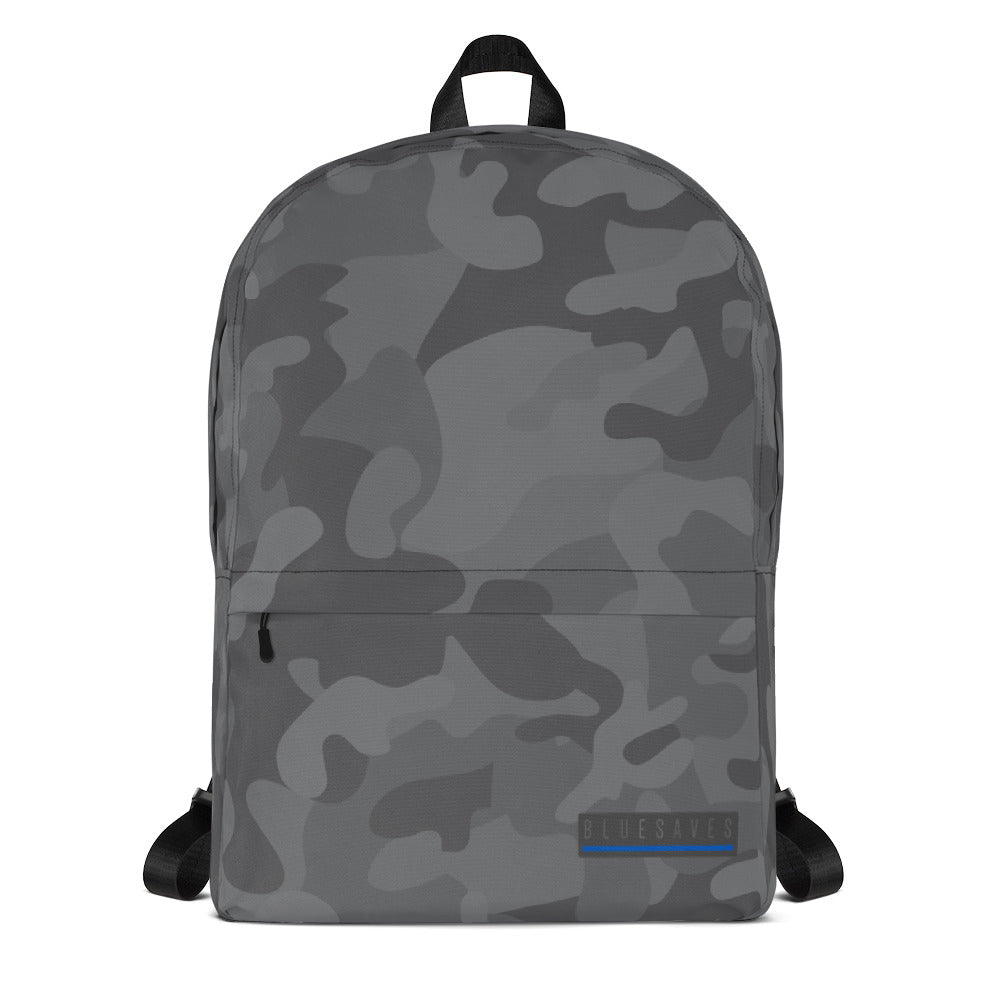 BLUE SAVES / Camo Backpack
