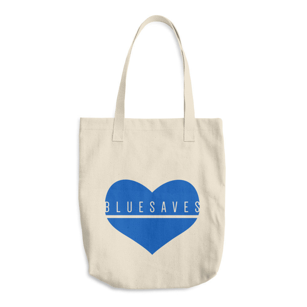 BLUE SAVES / Cotton Tote Bag / made in the USA