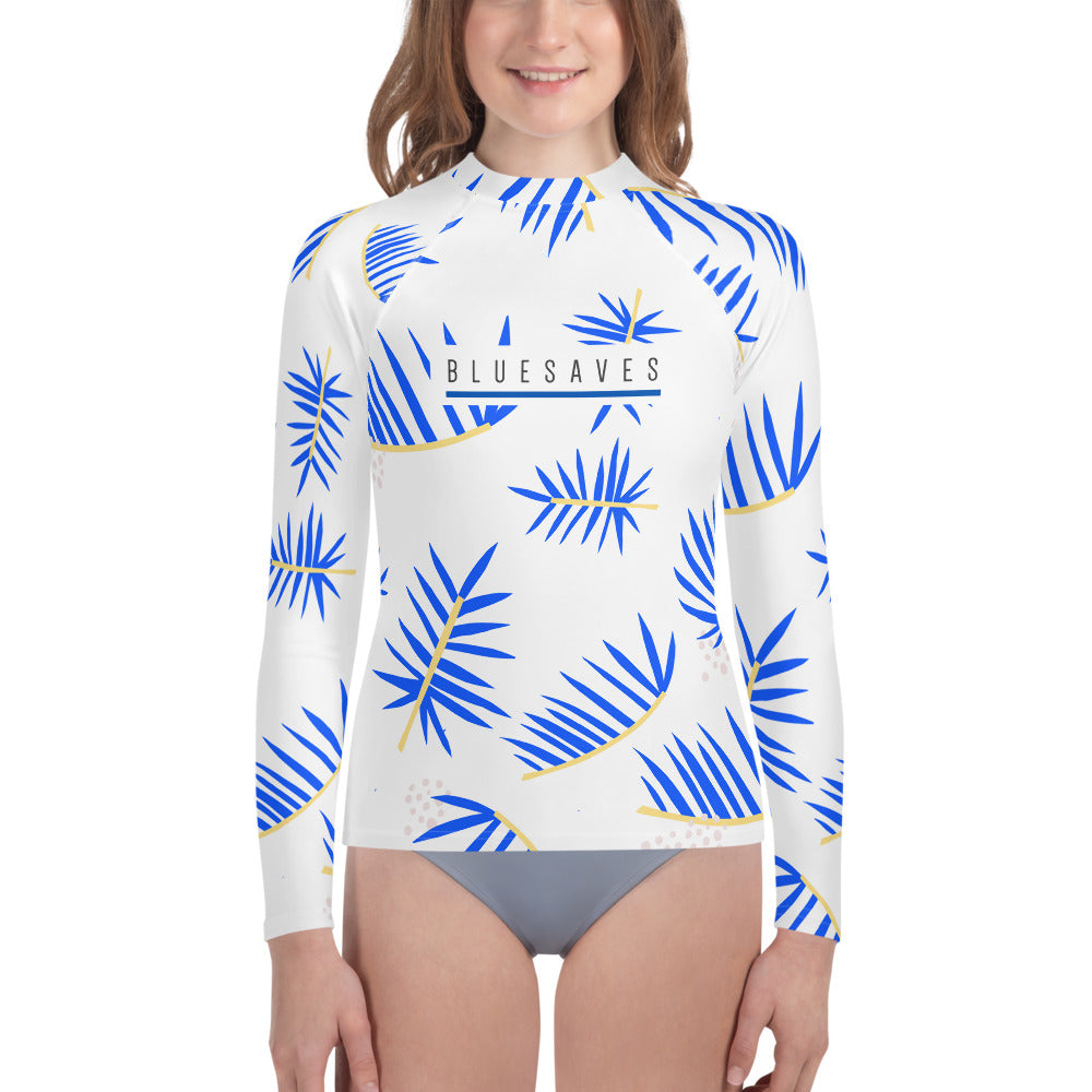 LEAF VIBES / *LIMITED EDITION* / BLUE SAVES / Youth Rash Guard