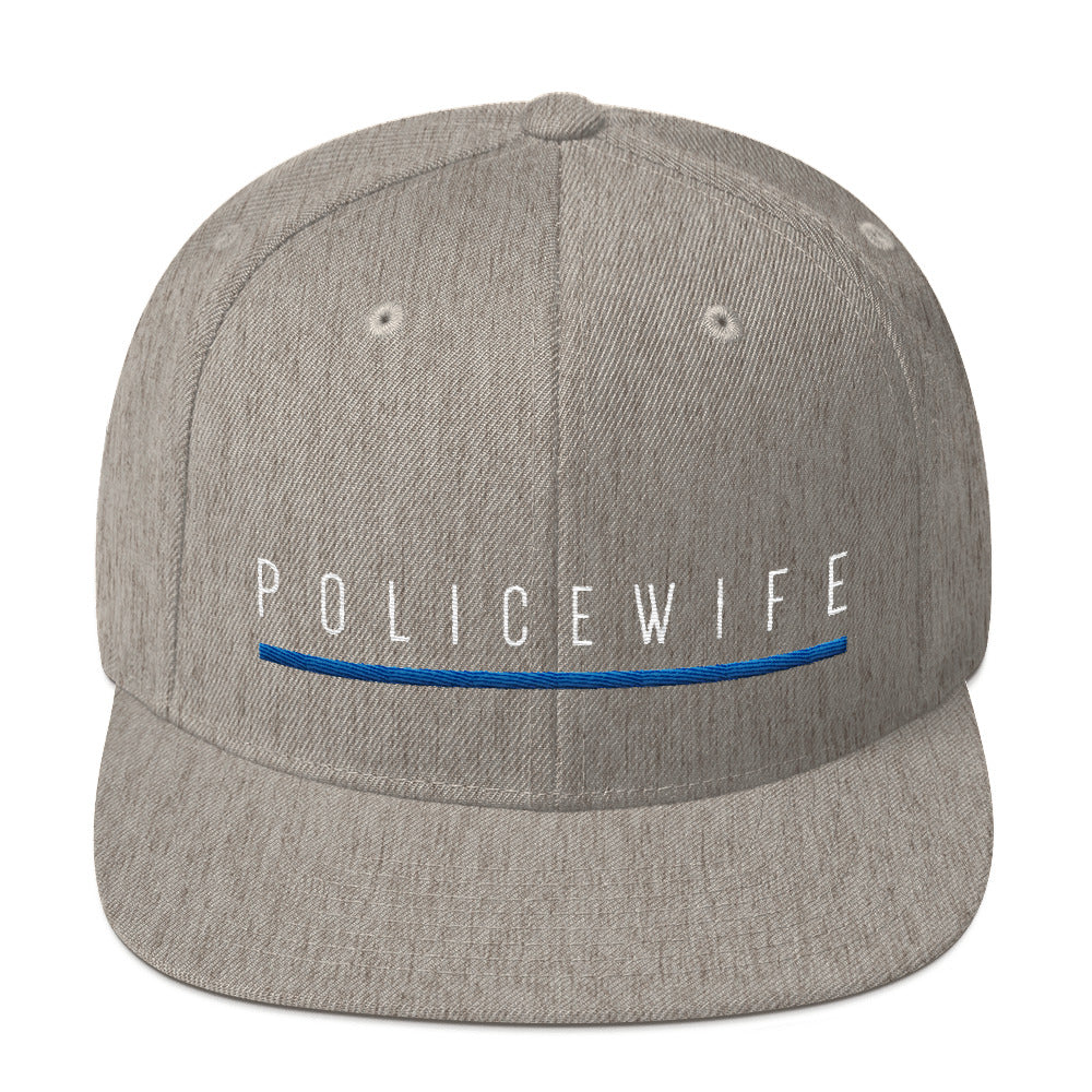 BLUE SAVES / POLICE WIFE / Snapback Cap