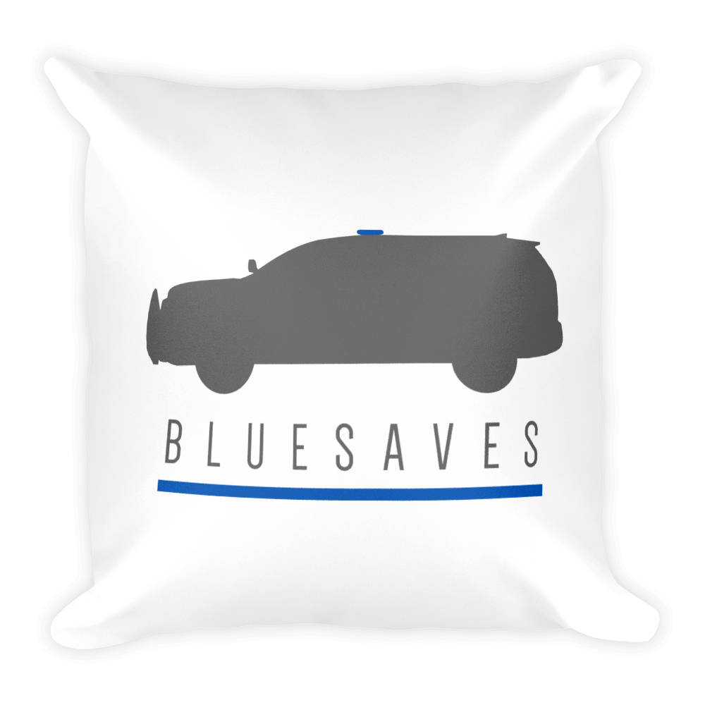 BLUE SAVES INTERCEPTOR / Square Pillow