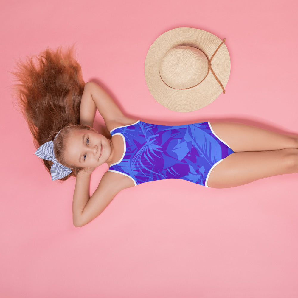 BLUE PARADISE / *LIMITED EDITION* / BLUE SAVES / All-Over Print Kids Swimsuit