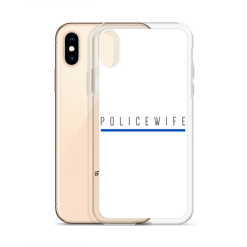 BLUE SAVES / POLICE WIFE / iPhone Case