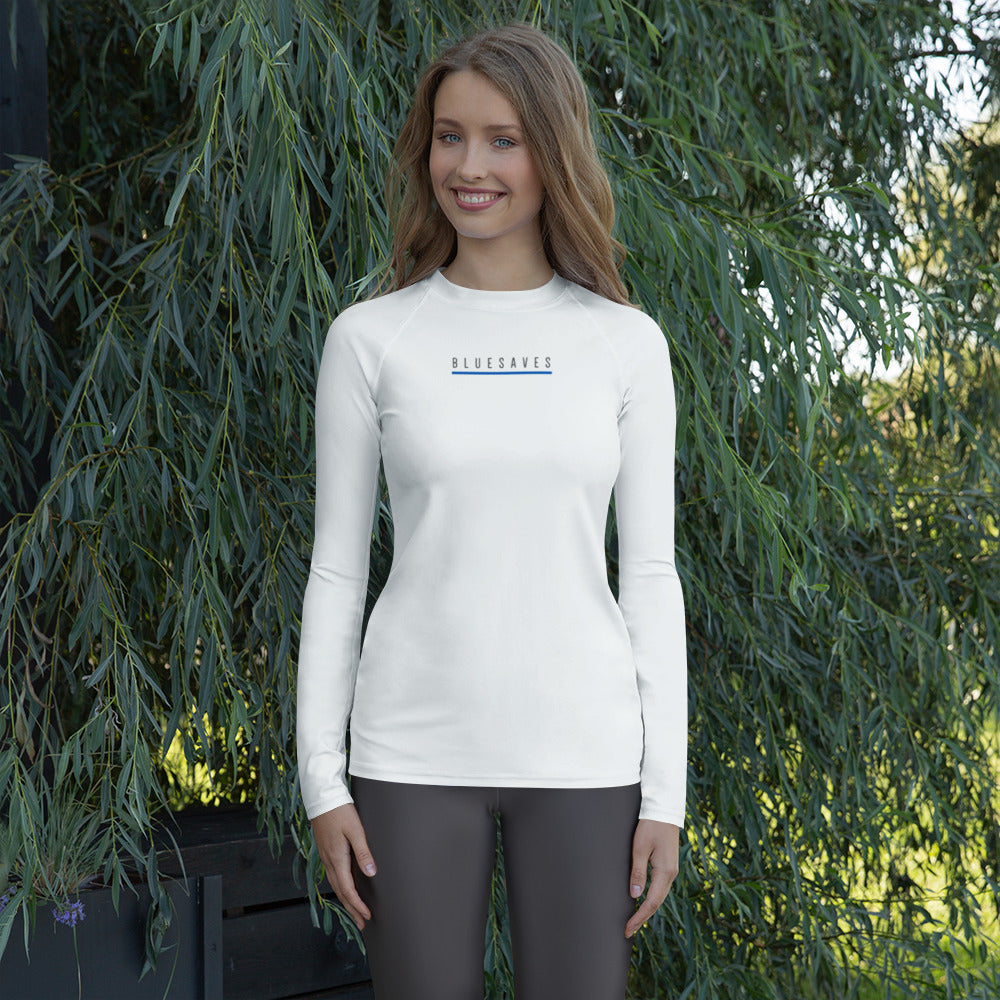 BLUE SAVES WOMEN'S / Women's Rash Guard