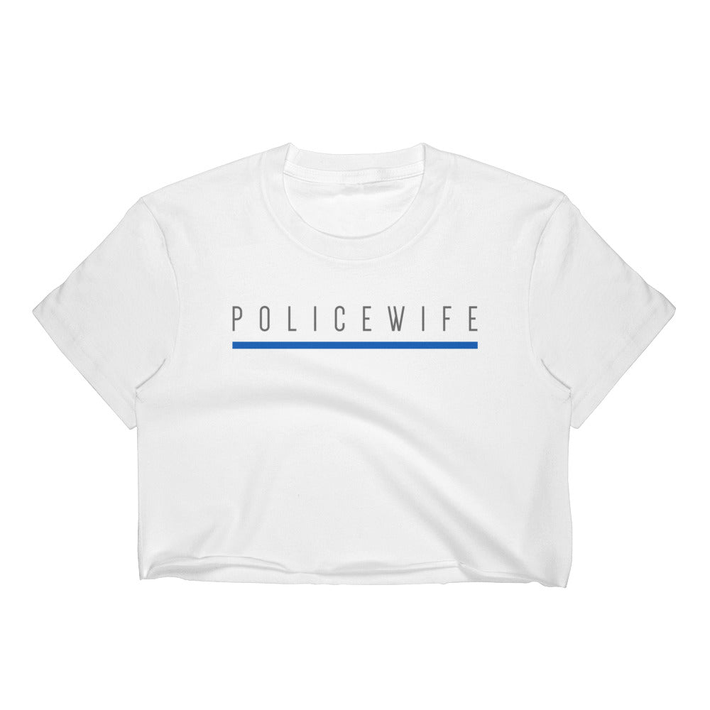 BLUE SAVES / POLICE WIFE / Women's Crop Top