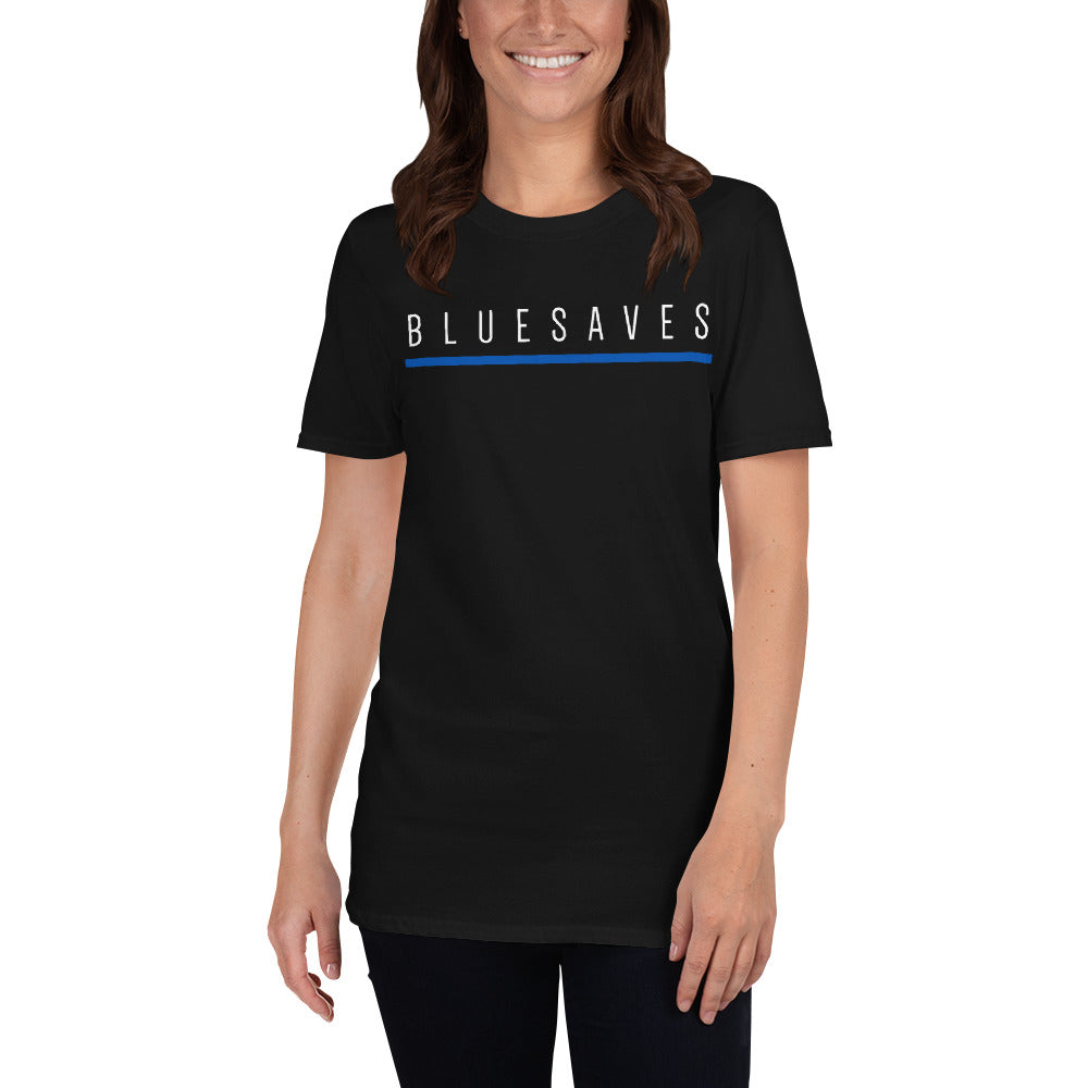 Blue Saves Short-Sleeve Unisex T-Shirt