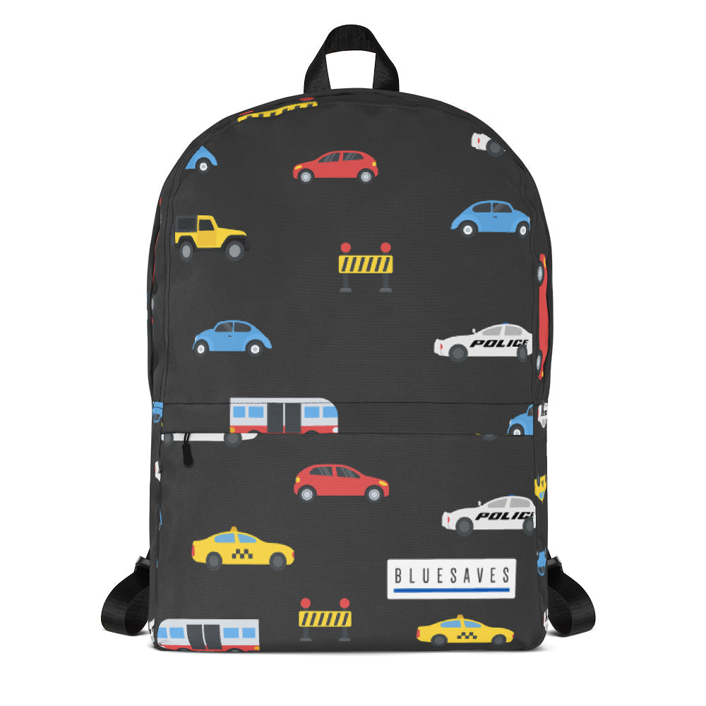 Blue Saves / All About Cars Backpack