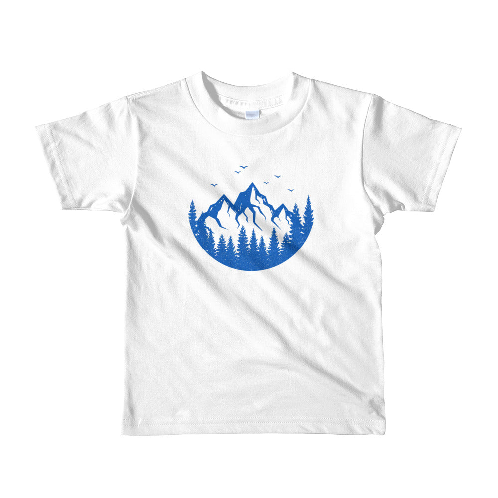 MOUNTAINS ARE CALLING / *LIMITED EDITION* / BLUE SAVES / Short sleeve kids t-shirt