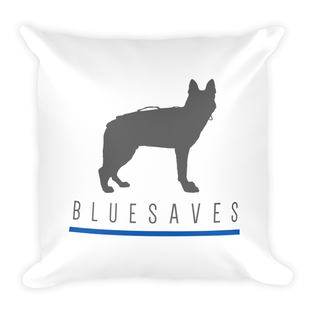 K9 BLUE SAVES / Square Pillow