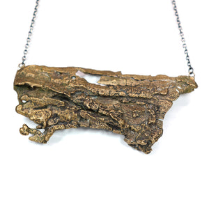 tree bark necklace: x large in bronze  for April