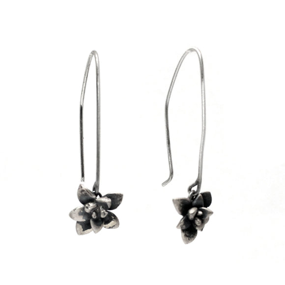 echeveria succulent earrings: drop