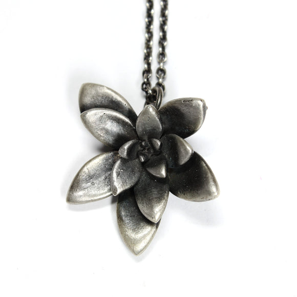 floral succulent necklace :  large