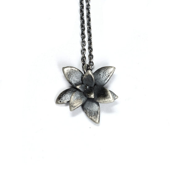 floral succulent necklace