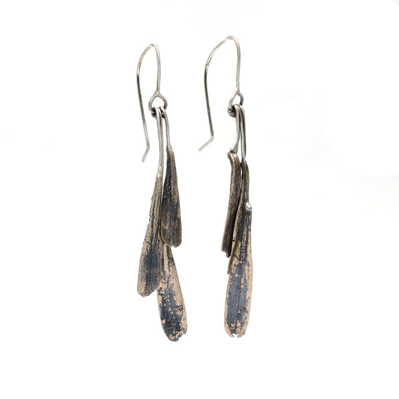 ash seed earrings: bunch