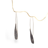 ash seed earrings: single in silver for April