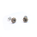 bronze Pokeweed stud earrings