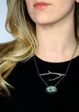 twig with large stone statement necklace