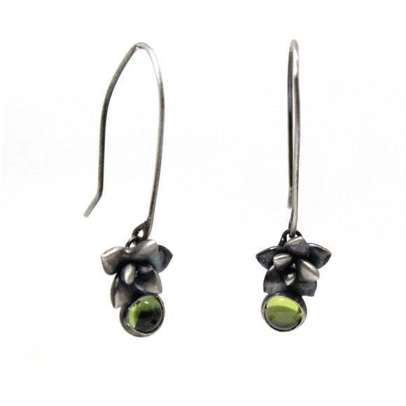 floral succulent stone earrings : drop