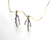 branchy twig earrings in sterling silver for April