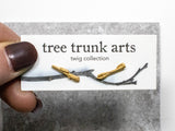 twig earrings : studs