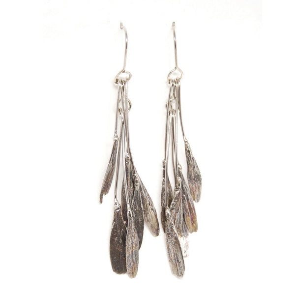 ash seed earrings: large bunch