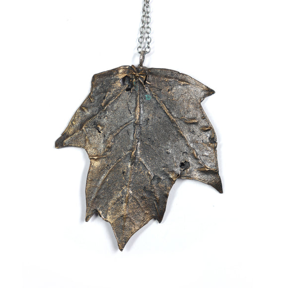 bronze maple leaf necklace - annual