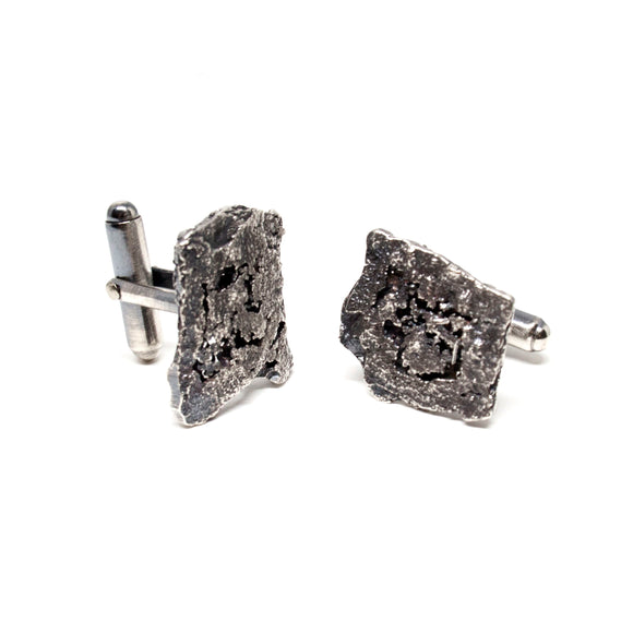 tree bark cufflinks