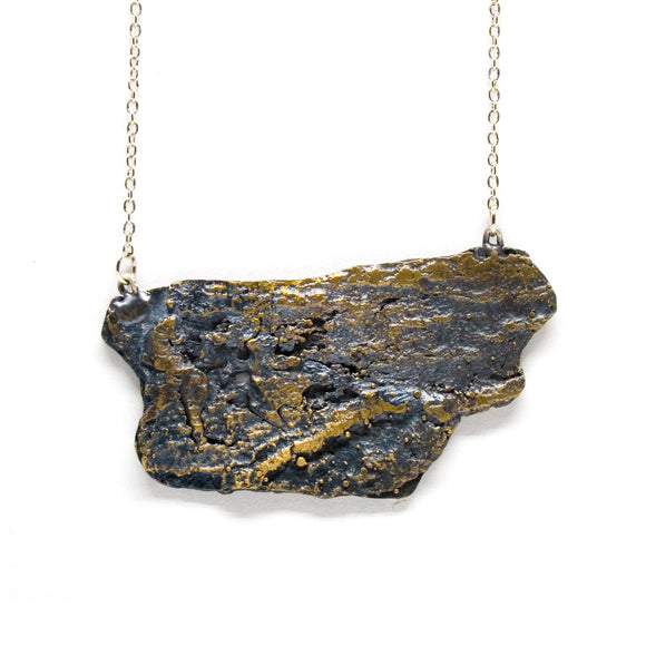 tree bark necklace: large