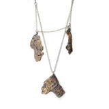 unique tree bark necklace in bronze for summer