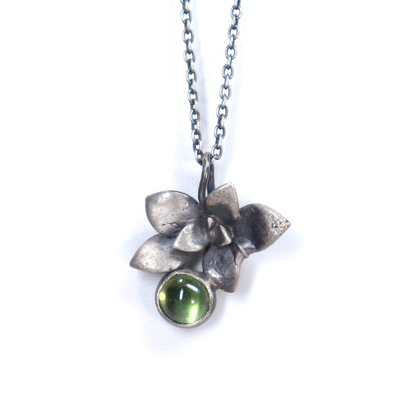 floral succulent stone necklace