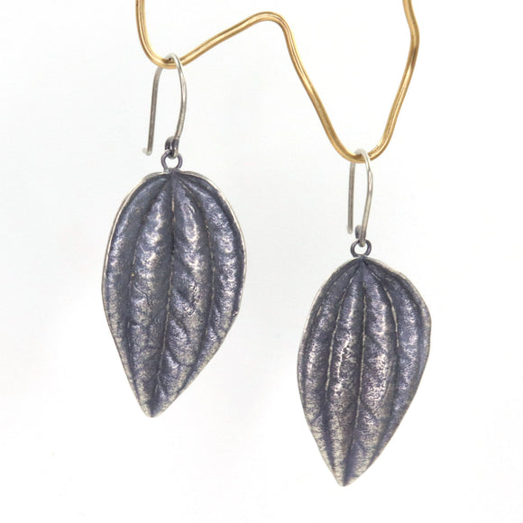 large leaf peperomia dangle earrings