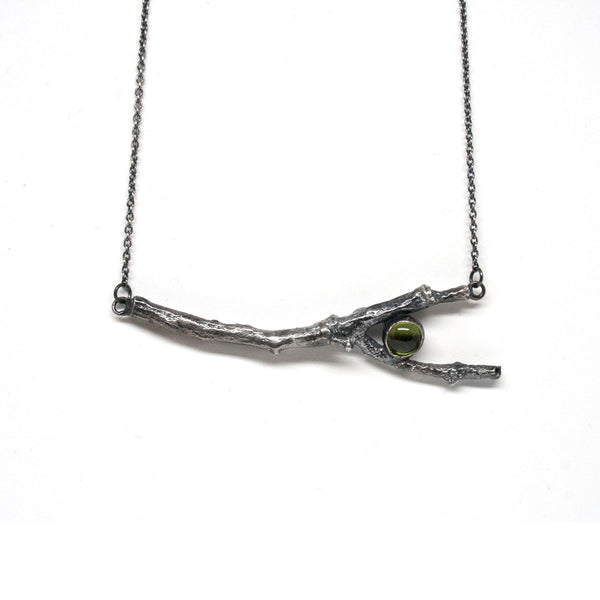 stone necklace: twig