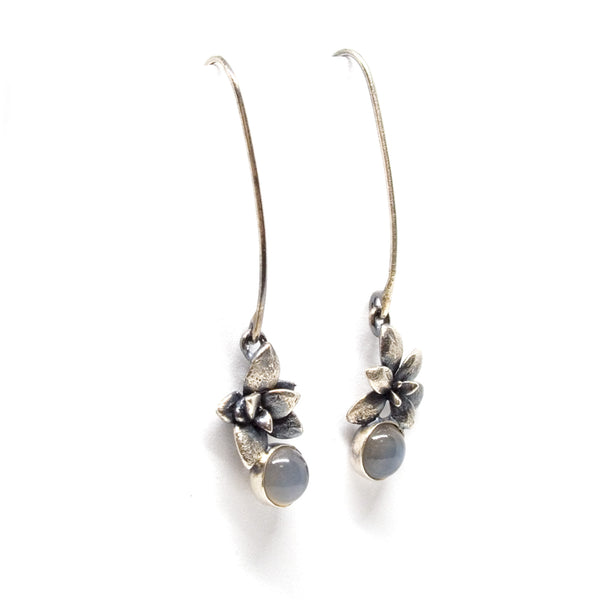 stone earrings: succulent