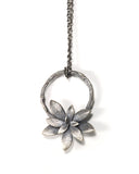 silver willow + echeveria necklace