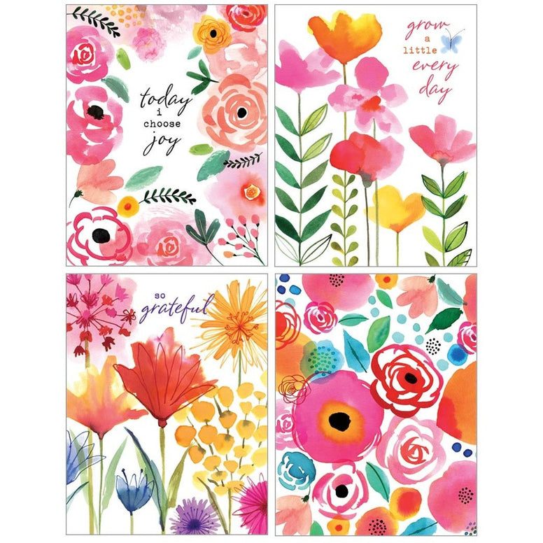 Colorful Flower Note Cards Designed By Margaret Berg