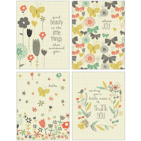 Set of 12 Floral Notecards Designed By Amylee Weeks
