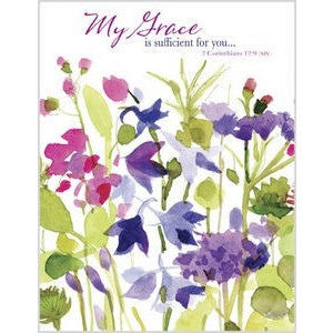 Cards have a pink, purple and green floral watercolor design.
