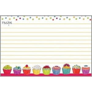 Gina B. Designs Colorful Cupcakes Recipe Cards